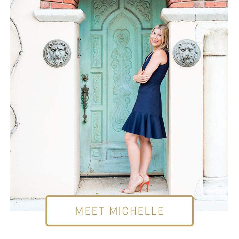 "Photo of Michelle Wood with ""Meet Michelle"" button"